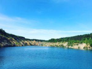 Голубое озера рядом с Александровском Пермский край