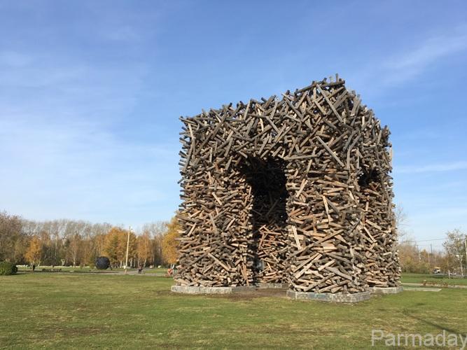 Пермские ворота деревянная буква П