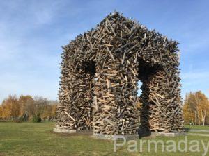 Деревянная буква П в Перми
