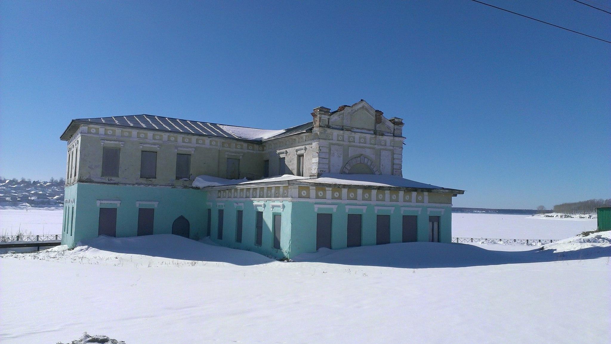 Здание управления добрянского железоделательного завода.