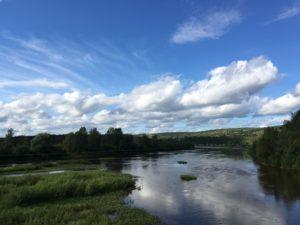 Река Усьва с моста