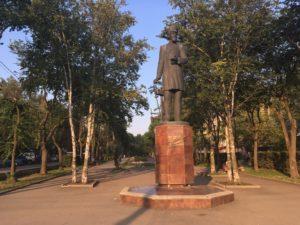 Памятник изобретателю сварки Славянову