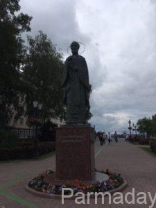 Памятник Николаю Чудотворцу в городе Пермь