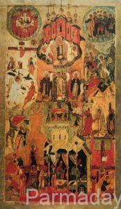 Икона обновление храма в Сольвычегодске. Строгановская икона