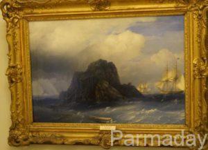 Картины Ивана Айвазовского Скалистый остров