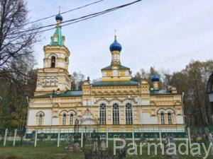 Успенская церковь в Перми, вид на храм