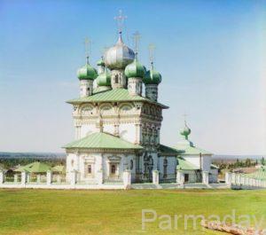 Никольская церковь в Ныробе фото 1913 года