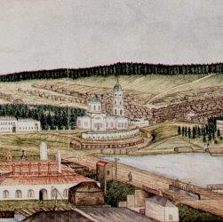 Суксунский медеплавильный завод, гравюра середины 19 века