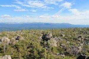 Вид на ГУХ с плато Кваркуш
