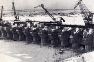 Строительство Камской ГЭС в 50-е годы XX века