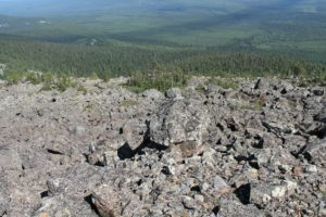 Курумники на плато Кваркуш