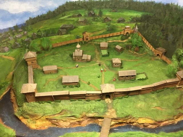 Макет Соликамской крепости XVI века