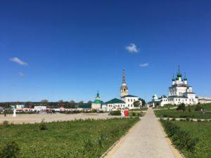 Соборная площадь в Соликамске и начало экскурсии