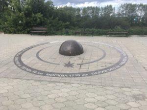Пуп земли в Кунгуре памятник