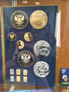 монеты из золота в музее