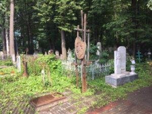 Могила Петра Субботина-Пермяка на Егошихинском кладбище.