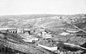 Вид на плотину в Кусье-Александровском заводе
