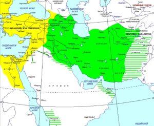 Византия и Сасаниды на карте
