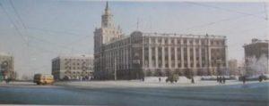 Башня смерти на советской открытке