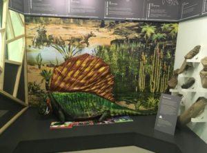 макет ящера пермского периода