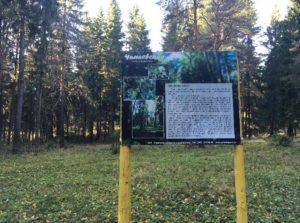Стенд на экотропе Чапаевской