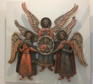 Серафим скульптура деревянная