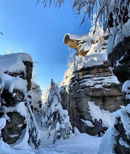 каменный город в зимнюю пору