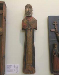 Святой Николай деревянная скульптура в Перми
