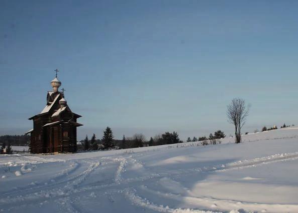 музей Хохловка зимой