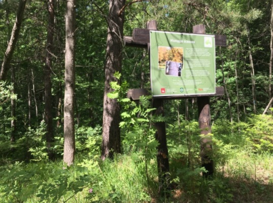 стенд на экотропе Андроновские горы