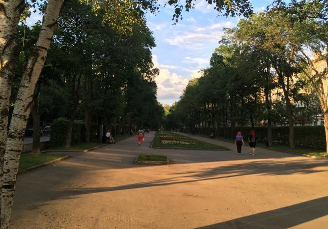 Сквер на улице Дружбы Пермь