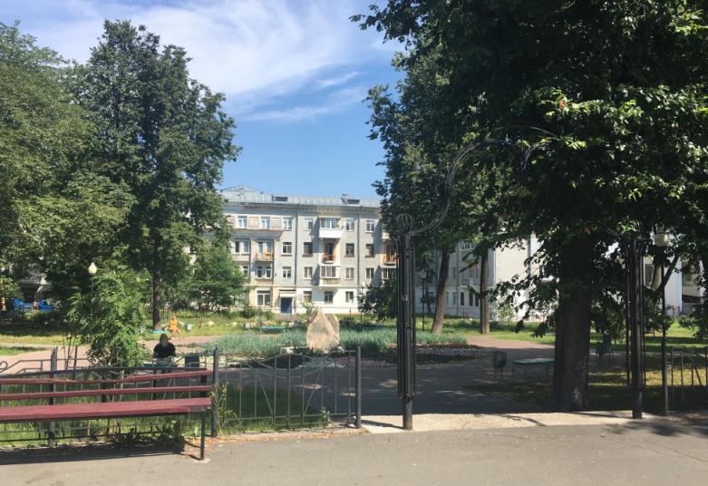 Сквер у дома чекистов в Перми
