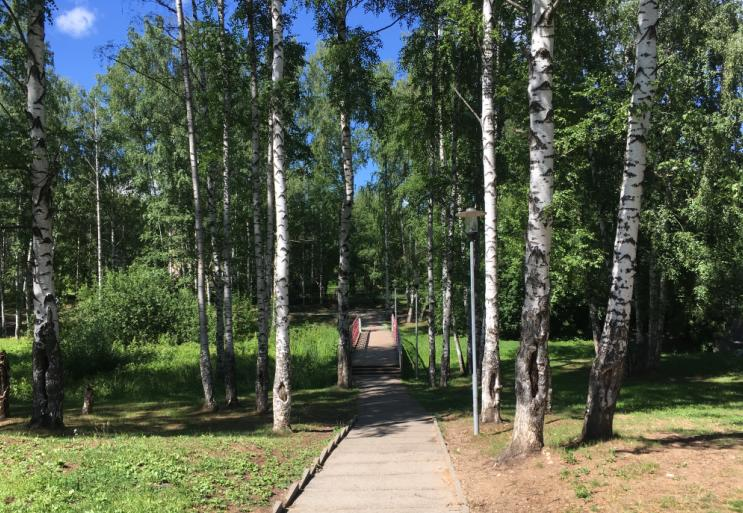 мостик в парке Чехова Пермь