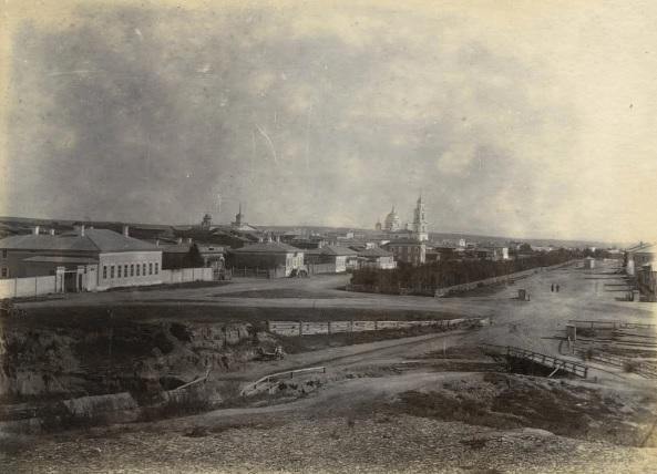 Общий вид Кяхты в XIX веке