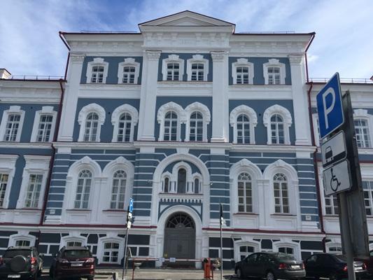 фасад института культуры в Перми после реставрации