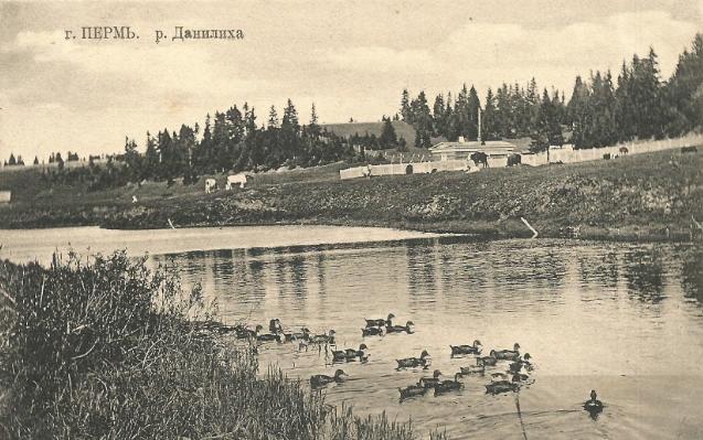 старое фото реки Данилиха